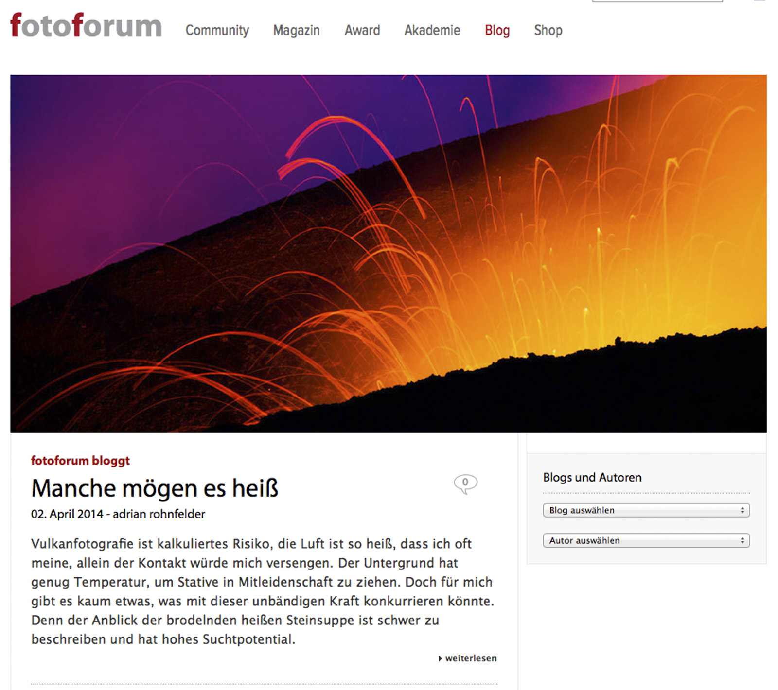 fotoforum Blog