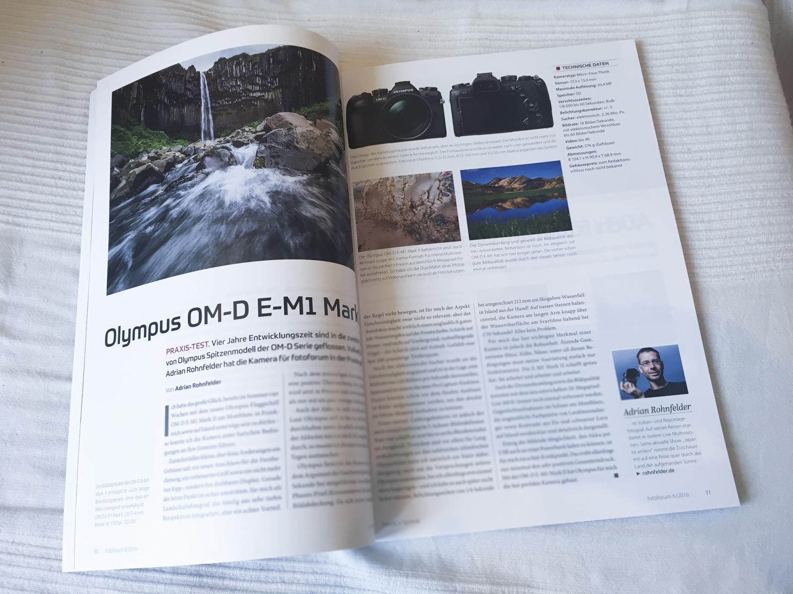 fotoforum Olympus E-M1 Mark II