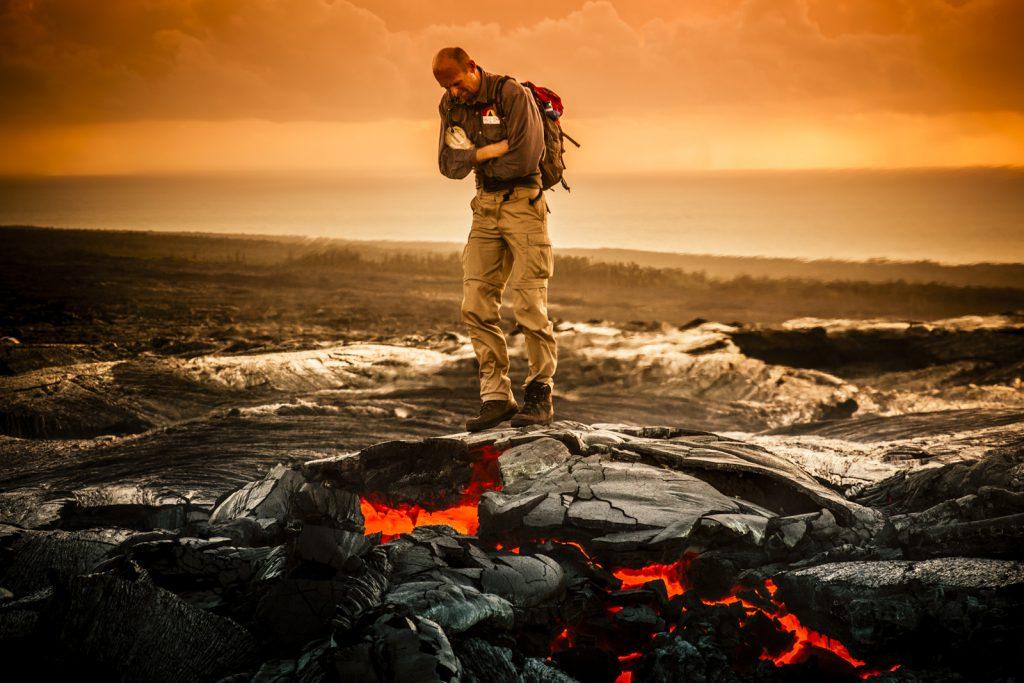 Dancing on a lava bubble