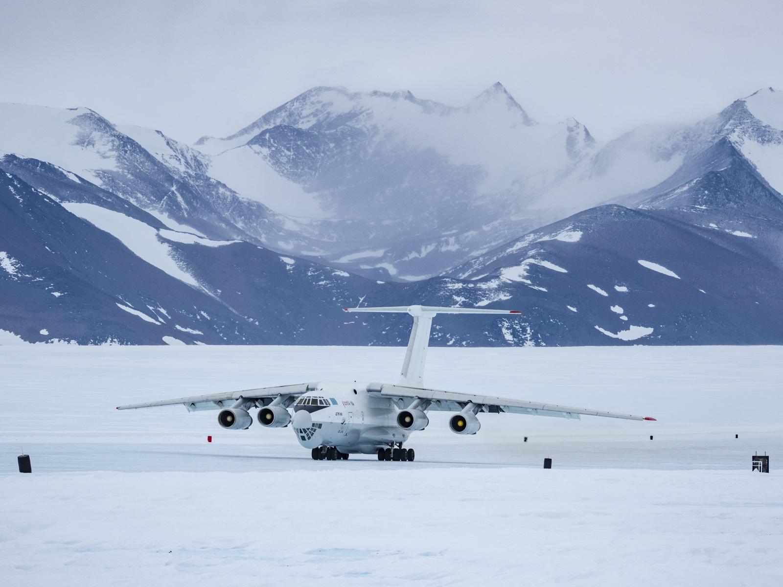 Flugzeuge in der Antarktis