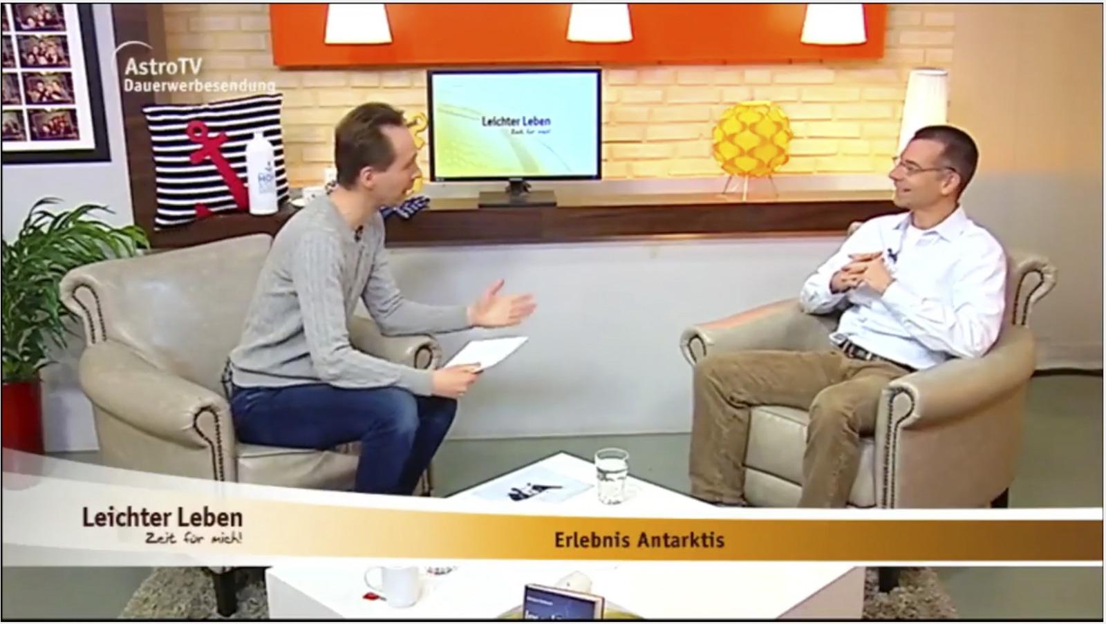 Gast in TV Live Sendung