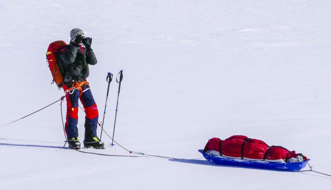 Me at work in Antarctica