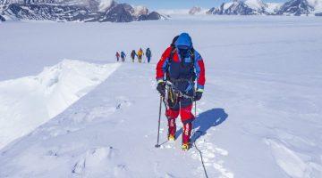 Antarctic mountaineering