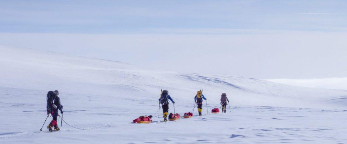 Descending to basecamp