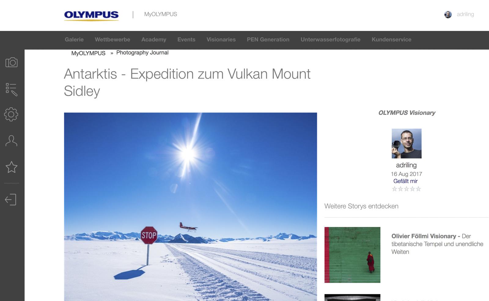 Antarktis im Olympus Magazin