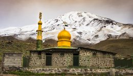 Moschee am Damavand Vulkan