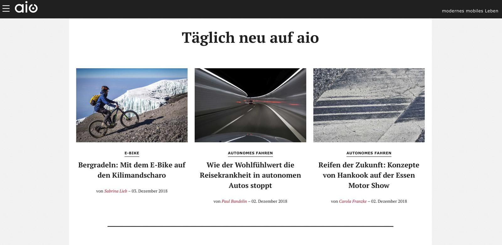 Audi e-Magazin