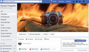 Facebook Olympus Gruppe