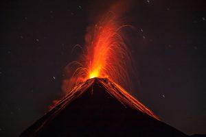 Eruption of Fuego volcano