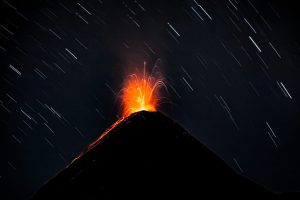 Eruption of Fuego volcano