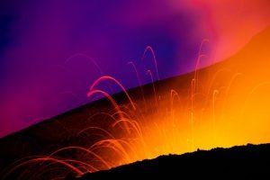 Strombolian eruption at Tolbachik volcano