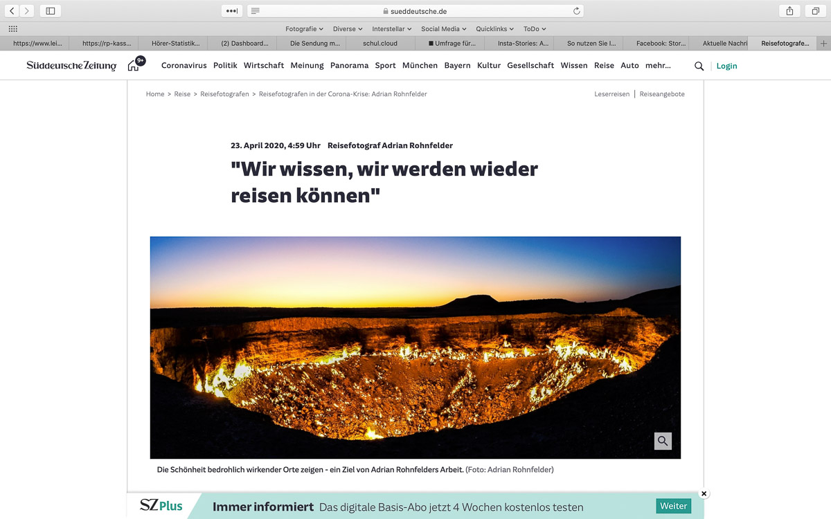 """Interview zu """"Corona"""" mit der Süddeutschen Zeitung"""