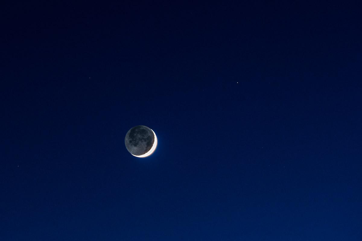 Erdschein und Formel Belichtungszeit Mond