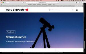 Artikel über die Astrofotografie
