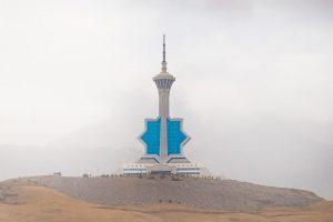 Aus dem Auto heraus fotografieren - Ashgabat