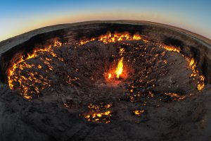 Tor zur Hölle - Feuer fotografieren