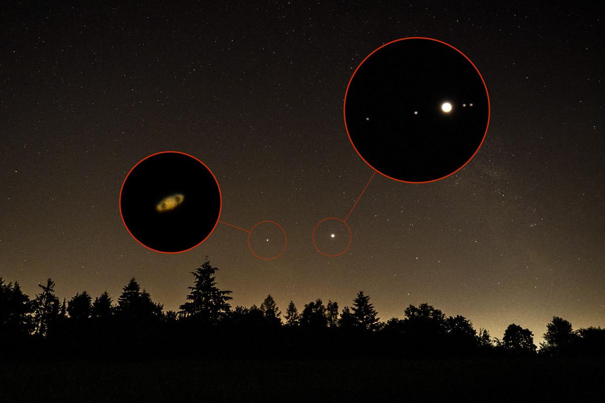 Saturn und Jupiter mit einer normalen Kamera fotografieren
