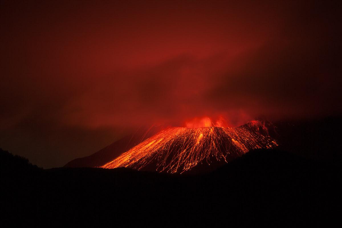 Sakurajima Vulkan - Licht und Wetter