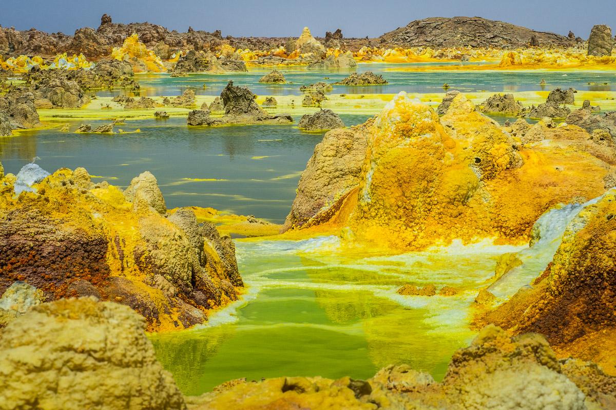 Danakil Wüste und Dallol Vulkan