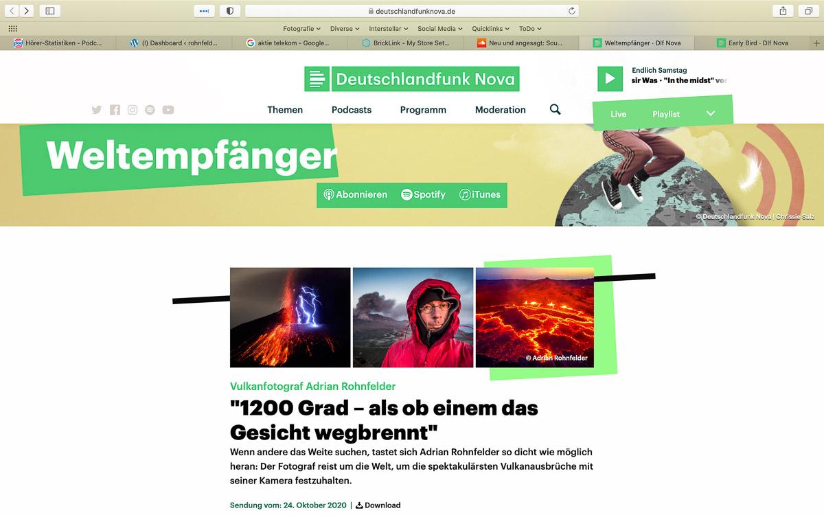 """Deutschlandfunk Nova """"Weltempfänger"""""""