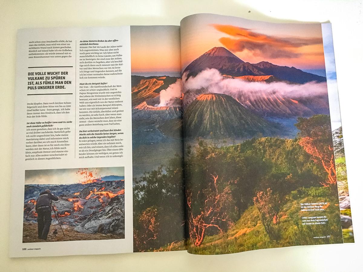 Vulkanisches Interview mit dem Outdoor Magazin